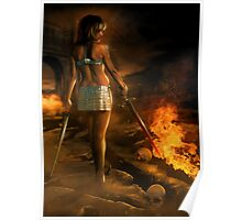 Female Fantasy Warrior Poster