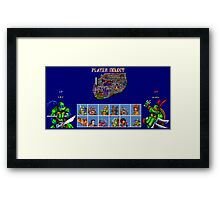 Tournament Fighter II Turbo Framed Print