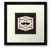 Hipster retro mustache Framed Print
