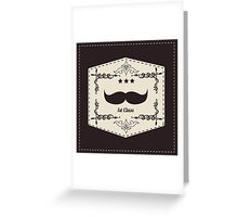 Hipster retro mustache Greeting Card