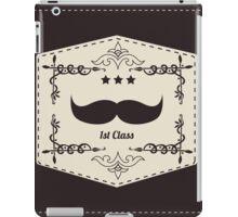 Hipster retro mustache iPad Case/Skin