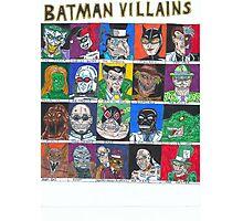 Batman Villains Photographic Print