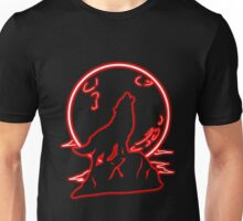 Red Moon Wolf (Transparent) Unisex T-Shirt