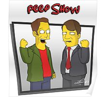 Peep Show - El Dude Brothers - Simpsons Style! Poster