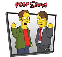 Peep Show - El Dude Brothers - Simpsons Style! Photographic Print