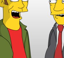 Peep Show - El Dude Brothers - Simpsons Style! Sticker