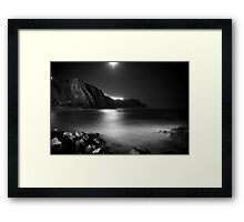 Black Moonlight Framed Print