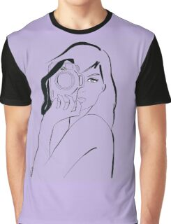 violet photographer girl Graphic T-Shirt