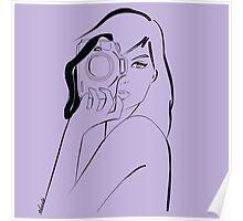 violet photographer girl Poster
