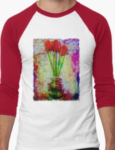 Three Tulips Men's Baseball ¾ T-Shirt