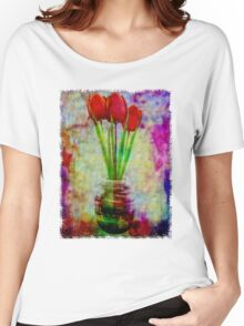 Three Tulips Women's Relaxed Fit T-Shirt