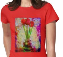 Three Tulips Womens Fitted T-Shirt
