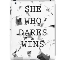 She Who Dares iPad Case/Skin