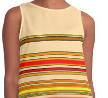 Cream and Toffee Ribbon Contrast Tank