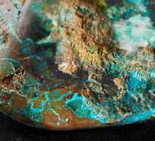 Botryoidal Malachite with Shattuckite by Christopher Carlson