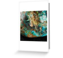 Botryoidal Malachite with Shattuckite Greeting Card
