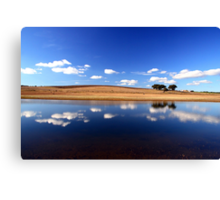 Blue Reflections Canvas Print