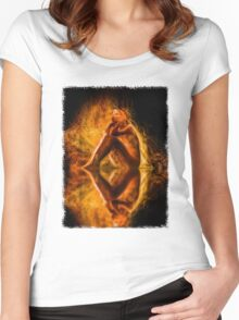 The Spirit and the Fire Women's Fitted Scoop T-Shirt