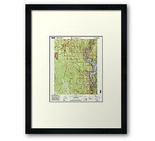 USGS TOPO Map California CA Challenge 100026 2000 24000 geo Framed Print