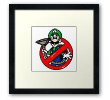 Ghostbuster Mashup Luigi Framed Print
