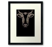 Ornamental Cow Head Framed Print