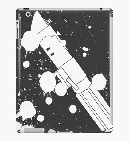Darth Vader Lightsaber Paint Splatter (Black and White) iPad Case/Skin