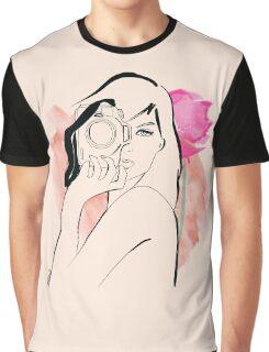 watercolour photographer girl Graphic T-Shirt
