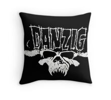 Danzig Skull and Logo Regular T-Shirt Throw Pillow