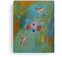 Hummingbird Dance Canvas Print