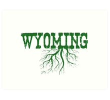 Wyoming State Roots Art Print