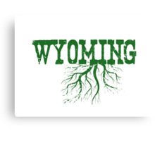Wyoming State Roots Canvas Print