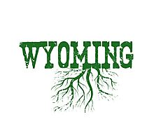 Wyoming State Roots Photographic Print