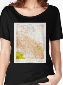 USGS TOPO Map California CA Caliente Mountain 296967 1941 62500 geo Women's Relaxed Fit T-Shirt