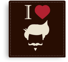 I love vintage hipster mustache and hair style Canvas Print