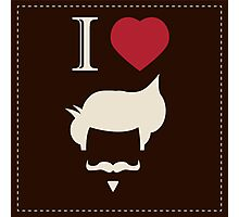 I love vintage hipster mustache and hair style Photographic Print