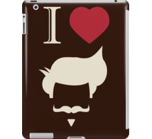 I love vintage hipster mustache and hair style iPad Case/Skin