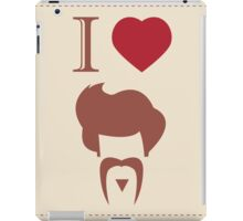 I love vintage hipster hair style and mustache iPad Case/Skin