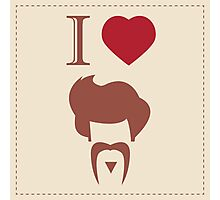 I love vintage hipster hair style and mustache Photographic Print