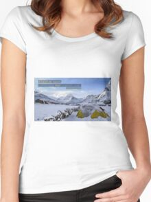 Adventure Awaits you! Women's Fitted Scoop T-Shirt