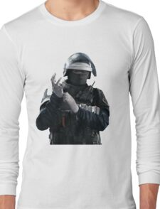 Doc - Rainbow 6 Siege - portrait Long Sleeve T-Shirt