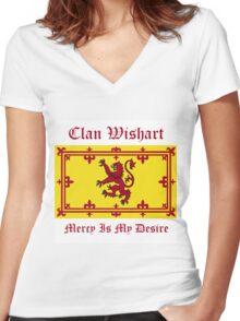 Wishart - Scottish Clan Women's Fitted V-Neck T-Shirt