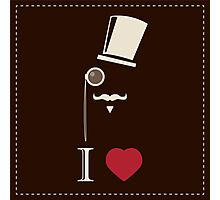 Gentleman hipster card with monocles and a hat Photographic Print