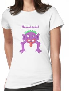 Hauwduiuo? Womens Fitted T-Shirt