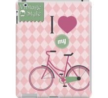 Vintage bicycle background iPad Case/Skin