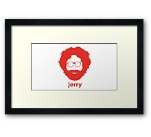 Jerry Face (Red Color) Framed Print