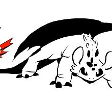 Tribal Toothless Sticker by sketchyscenario