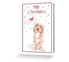 Christmas Labradoodle Greeting Card