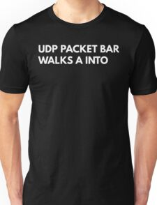 UDP packet bar walks A into Unisex T-Shirt