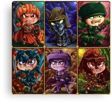 Seven Knights of Halloween Canvas Print