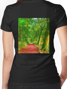 Hockney Path Tribute Women's Fitted V-Neck T-Shirt